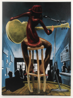 "David Garibaldi Signed ""Maxine"" 26.5x36 Canvas Painting (PA LOA) at PristineAuction.com"