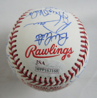 1978 Yankees OML Baseball Team-Signed by (20) with Reggie Jackson, Sparky Lyle, Mickey Rivers, Willie Randolph, Goose Gossage (JSA Hologram) at PristineAuction.com