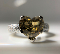 3.53ct Fancy Yellow & White Diamond Engagement Ring 14kt White Gold (GIA Certified) at PristineAuction.com