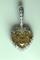 1.69ct Fancy Dark Brown & White Diamond Halo  Pendant 14kt White Gold (GIA Certified) at PristineAuction.com
