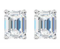 1.82ct Emerald Cut Diamond Stud Earrings Platinum (GIA Certified) at PristineAuction.com
