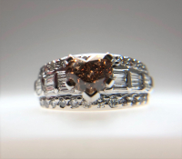 2.30ct Fancy Dark Brown & White Diamond Engagement Ring 14kt White Gold (GIA Certified) at PristineAuction.com