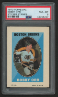 Bobby Orr 1970-71 Topps/OPC Sticker Stamps #24 (PSA 8) at PristineAuction.com