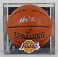 Magic Johnson Signed NBA Game Ball Series Basketball with High-Quality Display Case (Beckett COA) at PristineAuction.com
