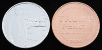 Lot of (2) 2020 Donald Trump Presidential Collectable Coins with (1) 1oz Silver Round & (1) 1oz Copper Round at PristineAuction.com