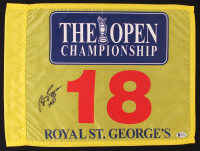 "Bill Rogers Signed The Open Championship Golf Pin Flag Inscribed ""1981"" (Beckett COA) at PristineAuction.com"