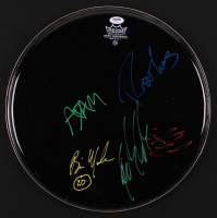 Matchbox Twenty Drum Head Band-Signed by (5) with Rob Thomas, Adam Gaynor, Brian Yale, Kyle Cook & Paul Douchette (PSA Hologram) at PristineAuction.com