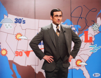 """Steve Carell Signed """"Anchorman: The Legend of Ron Burgundy"""" 11x14 Photo (Beckett COA) at PristineAuction.com"""