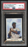 Jackie Robinson 1955 Dodgers Golden Stamps #15 (PSA 8) at PristineAuction.com