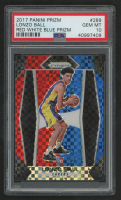 Lonzo Ball 2017-18 Panini Prizm Prizms Red White & Blue #289 (PSA 10) at PristineAuction.com