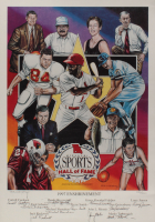 1997 Missouri Sports Hall of Fame Enshrinement LE 15x21 Lithograph signed by (11) with Ozzie Smith, Jack Rockwell, John Morris, Randy Biggerstaff (JSA ALOA) at PristineAuction.com