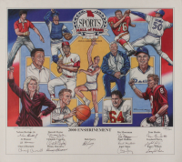 2000 Missouri Sports Hall of Fame Enshrinement LE 16.5x18.75 Lithograph Signed by (13) with Gaylord Perry, Larry Wilson, Orlando Cepeda, Bob Ferry (JSA ALOA) at PristineAuction.com