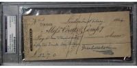 Charles Dickens Signed 1864 Personal Bank Check (PSA Encapsulated) at PristineAuction.com