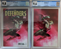 "Lot of (2) 2017 ""Defenders"" Issue #1 Limited Marvel Comic Books with TCM Exclusive Gabriele Dell'Otto Variant (CGC 9.8) & Dell'Otto Virgin Variant (CGC 9.6) at PristineAuction.com"