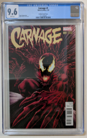 "2016 ""Carnage"" Issue #1 Mike Perkins 1:25 Variant Marvel Comic Book (CGC 9.6) at PristineAuction.com"