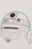 """Tom Hodges - R2-D2 - """"Star Wars"""" - Signed ORIGINAL 5.5"""" x 8.5"""" Drawing on Paper (1/1) at PristineAuction.com"""