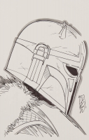 """Tom Hodges - The Armorer - """"Star Wars"""" - Signed ORIGINAL 5.5"""" x 8.5"""" Drawing on Paper (1/1) at PristineAuction.com"""