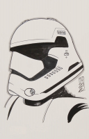 "Tom Hodges - First Order Stormtrooper - ""Star Wars"" - Signed ORIGINAL 5.5"" x 8.5"" Drawing on Paper (1/1) at PristineAuction.com"