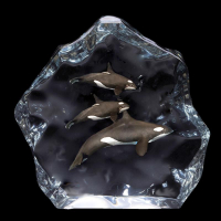 """Kitty Cantrell Engraved """"Northern Paradise"""" Limited Edition Mixed Media Lucite Sculpture at PristineAuction.com"""