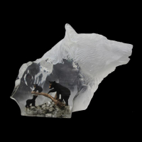"Kitty Cantrell Engraved ""Black Bear Clan"" Limited Edition Mixed Media Lucite Sculpture at PristineAuction.com"
