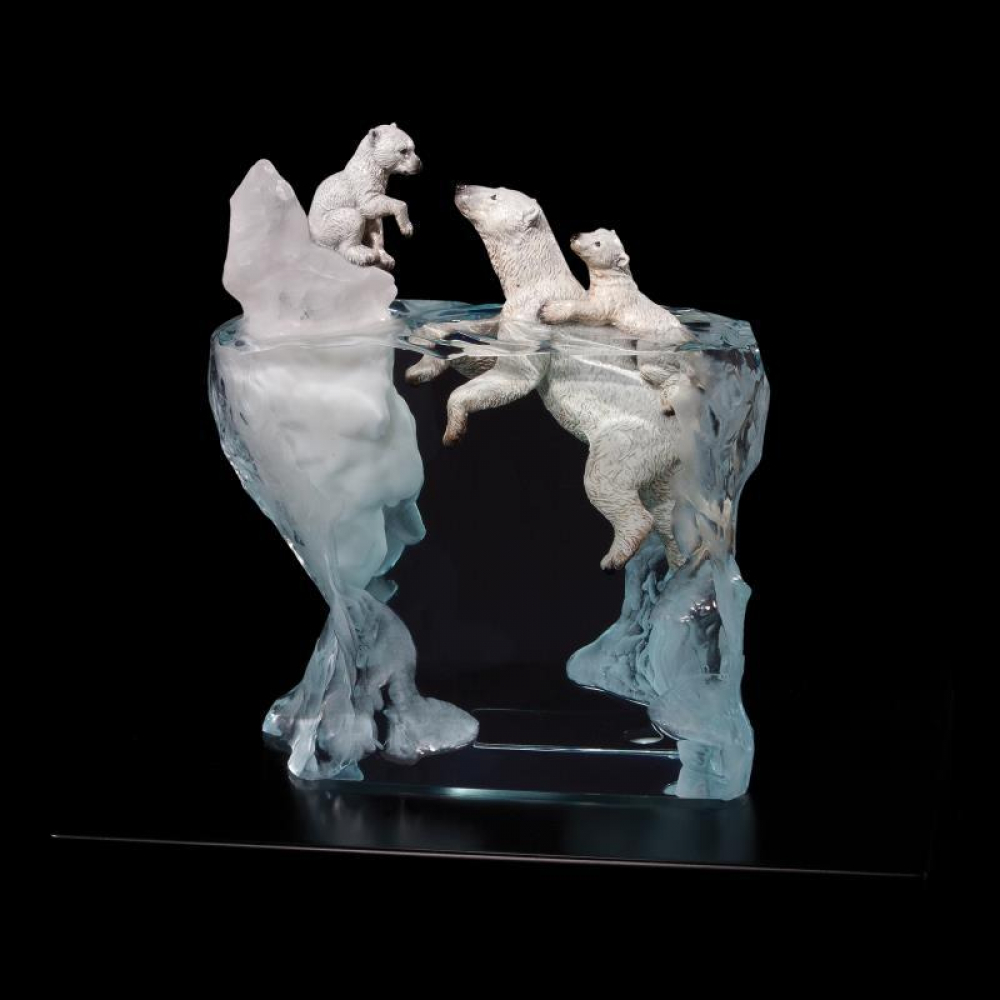 """Kitty Cantrell Engraved """"A Mother's Calling"""" Limited Edition Mixed Media Lucite Sculpture at PristineAuction.com"""