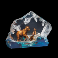 """Kitty Cantrell Engraved """"A Mother's Love"""" Limited Edition Mixed Media Lucite Sculpture at PristineAuction.com"""