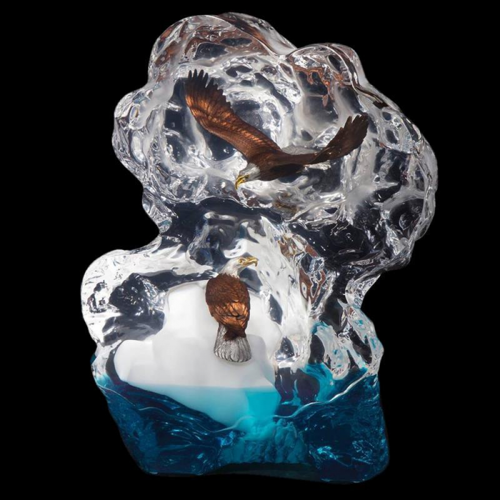 """Kitty Cantrell Engraved """"Glacial Voyage"""" Limited Edition Mixed Media Lucite Sculpture at PristineAuction.com"""