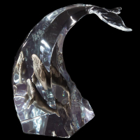 """Kitty Cantrell Engraved """"Humpback Dance"""" Limited Edition Mixed Media Lucite Sculpture at PristineAuction.com"""