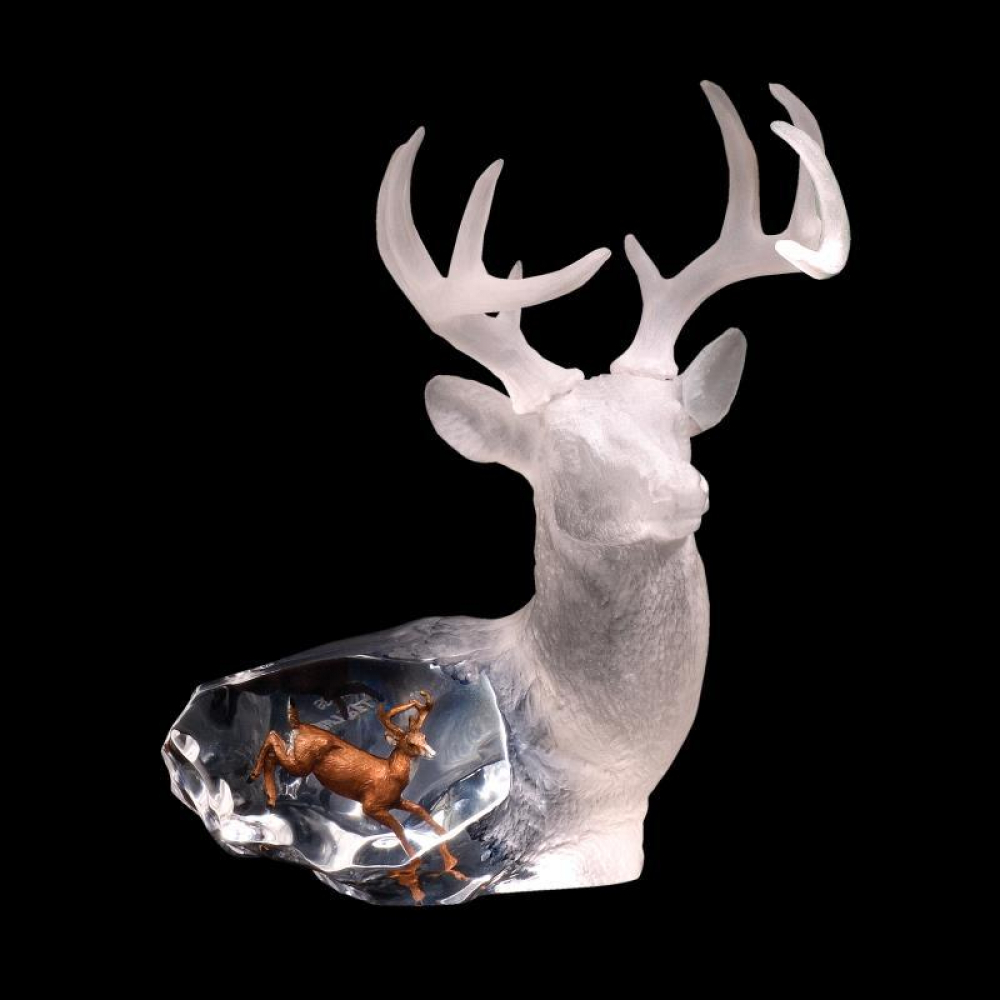 """Kitty Cantrell Engraved """"Majestic Spirit"""" Limited Edition Mixed Media Lucite Sculpture at PristineAuction.com"""