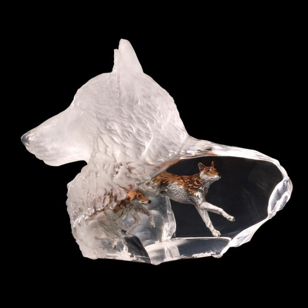 """Kitty Cantrell Engraved """"Wild Spirit"""" Limited Edition Mixed Media Lucite Sculpture at PristineAuction.com"""