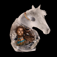 """Christopher Pardell Engraved """"Running Wind"""" Limited Edition Mixed Media Lucite Sculpture at PristineAuction.com"""