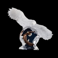 "Christopher Pardell Engraved ""Eagle Spirit"" Limited Edition Mixed Media Lucite Sculpture at PristineAuction.com"