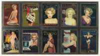 Marilyn Monroe Uncut Chrome Insert Trading Card Sheets at PristineAuction.com