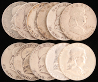 Lot of (11) 1949-63 Franklin Half Dollars at PristineAuction.com