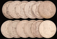 Lot of (12) 1952-63 Franklin Half Dollars at PristineAuction.com