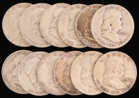 Lot of (12) 1951-63 Franklin Half Dollars at PristineAuction.com