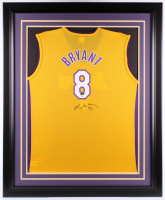 Kobe Bryant Signed Lakers 37x45 Custom Framed Jersey Display (PSA COA) at PristineAuction.com