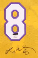 Kobe Bryant Signed Lakers 37x45 Custom Framed Jersey Display (PSA COA) at PristineAuction.com