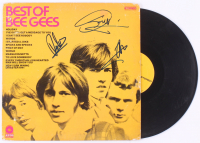 "Barry Gibb, Maurice Gibb & Robin Gibb Signed Bee Gees ""Best Of Bee Gees"" Vinyl Record Album (JSA LOA) at PristineAuction.com"