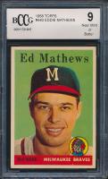 Eddie Mathews 1958 Topps #440 (BCCG 9) at PristineAuction.com