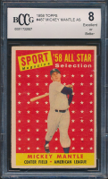 Mickey Mantle 1958 Topps #487 All-Star (BCCG 8) at PristineAuction.com