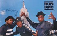 Darryl McDaniels, Jam Master Jay & Joseph Simmons Signed Run-DMC 22x34 Poster (Beckett LOA) at PristineAuction.com