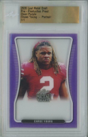 Chase Young 2020 Leaf Metal Draft Pre-Production Proof Portrait Clear Purple  #1/1 (Leaf Encapsulated) at PristineAuction.com