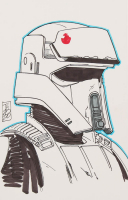 """Tom Hodges - Imperial Stormtrooper - """"Star Wars"""" - Signed ORIGINAL 5.5"""" x 8.5"""" Drawing on Paper (1/1) at PristineAuction.com"""
