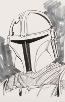"Tom Hodges - The Mandalorian - ""Star Wars"" - Signed ORIGINAL 5.5"" x 8.5"" Drawing on Paper (1/1) at PristineAuction.com"