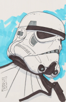 "Tom Hodges - Imperial Sand Trooper - ""Star Wars"" - Signed ORIGINAL 5.5"" x 8.5"" Drawing on Paper (1/1) at PristineAuction.com"