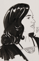 "Tom Hodges - Qi'ra - ""Star Wars"" - Signed ORIGINAL 5.5"" x 8.5"" Drawing on Paper (1/1) at PristineAuction.com"