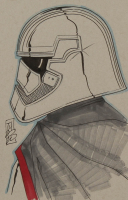 "Tom Hodges - Captain Phasma - ""Star Wars"" - Signed ORIGINAL 5.5"" x 8.5"" Drawing on Paper (1/1) at PristineAuction.com"
