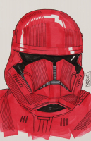 """Tom Hodges - Sith Trooper - """"Star Wars"""" - Signed ORIGINAL 5.5"""" x 8.5"""" Drawing on Paper (1/1) at PristineAuction.com"""