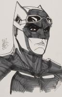 "Tom Hodges - Batman - Ben Affleck - DC Comics - Signed ORIGINAL 5.5"" x 8.5"" Drawing on Paper (1/1) at PristineAuction.com"